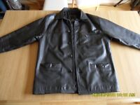 REAL LEATHER COAT IN SUPER CONDITION