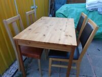 Dining Table and 4 Chairs - - £30 - - -