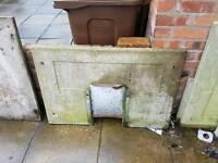 Concrete coal bunker or composter