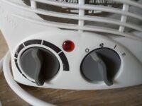 Used 2kW Upright White Fan Heater