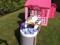 CHILD'S PLAYHOUSE AND MINI TEFAL KITCHEN