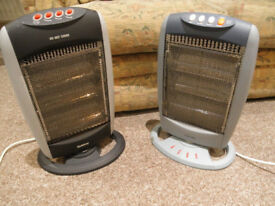 Pair of halogen muli function heaters electric