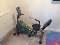 V-fit recumbent exercise bike
