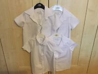 4 boys white short sleeve school shirts. Age 4-5 years, 110cm.