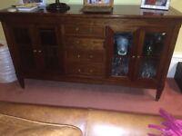 Laura Ashley Arlington furniture range - sideboard with glass display