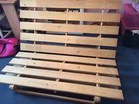 Double futon frame