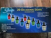 20 outdoor coloured lamps - indoor or outdoor