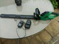 Gardenline 18v Lithium cordless hedge trimmer