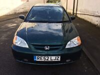 Honda Civic 1.6 vetch 3 door coupe good condition