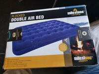 MILESTONE Flocked Double Airbed Camping/Guest Mattress Two People