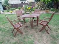 🌸GARDEN TABLE & 4 CHAIRS🌸