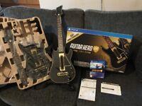 GUITAR HERO LIVE [PS4] + 2 GUITAR CONTROLLERS. ORIGINAL BOX [LIKE NEW]