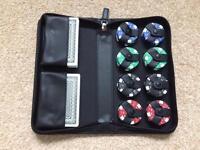 Aquascutum Poker Set & Leatherette Case