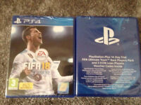 Brand new, sealed Fifa 18 + Rare player pack PS4