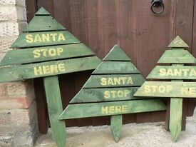 Wooden Christmas trees. Great sign for your garden for Xmas