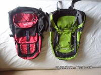rucksacks , camping stoves,3 backpacks 2 never used 3 camping stoves , 1 lantern not needed