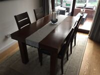Bentley Designs Akita extendable dining table and chairs