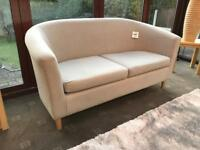 Brand New - HOME 2 Seater Fabric Tub Sofa Mocha - From Argos RRP £149.99