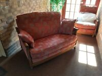 Ercol fabric suite - settee and armchair