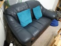 Dark Blue leather sofa for sale
