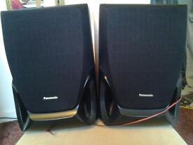 2 panasonic speakers