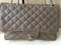 khaki brown chanel bag used in good condition clean paypal or Collection in person!