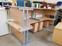 Oak effect corner desks (160cm)