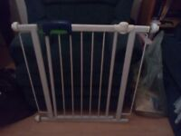 Safety gatewhite metal safety gate