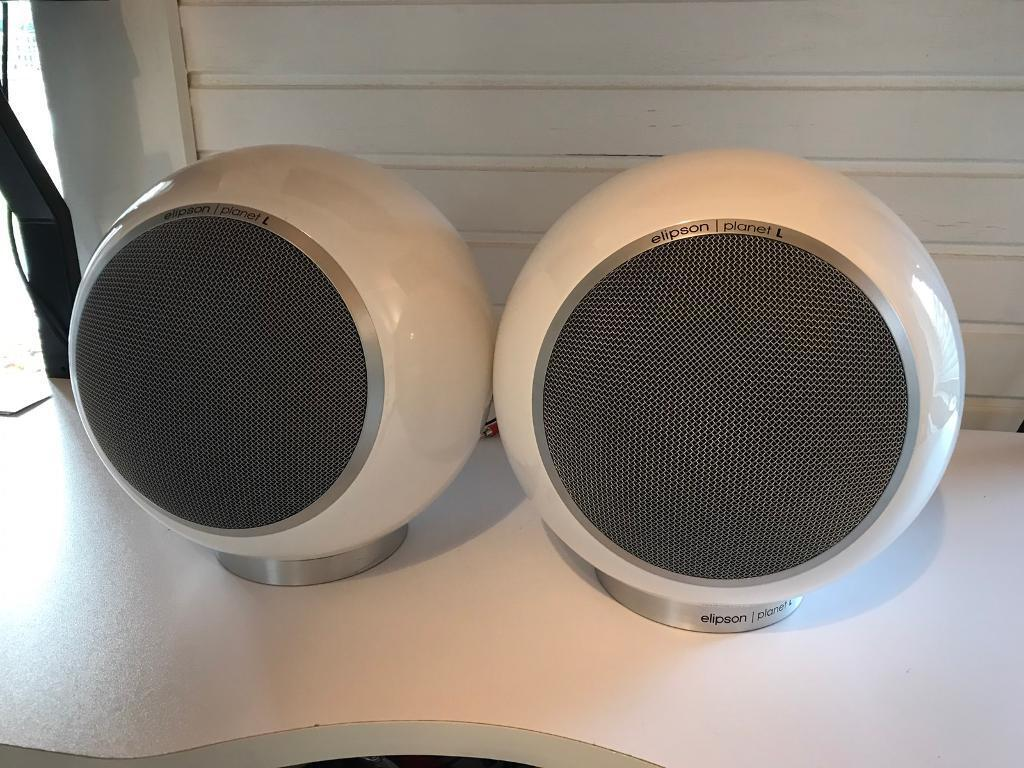 Elipson Planet L Speakers Home Hifi System Home Cinema + Genuine Floor Stands