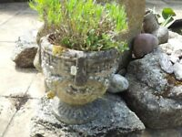 Quality stone and terracotta used garden pots/planters