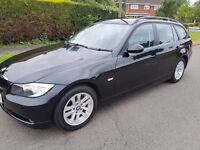 2008 BMW 320D 2.0 177 ES TOURING DIESEL MANUAL BLACK 134K NEW CLUTCH & FLYWHEEL F/S/H EXE CONDITION