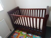 Eva sleigh cot bed and mattress