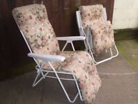 2 x Sun Loungers Delivery Available £10