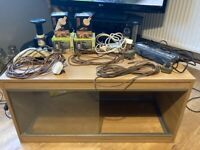 Various reptile equipment