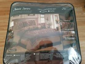 Chocolate brown double bed spread set