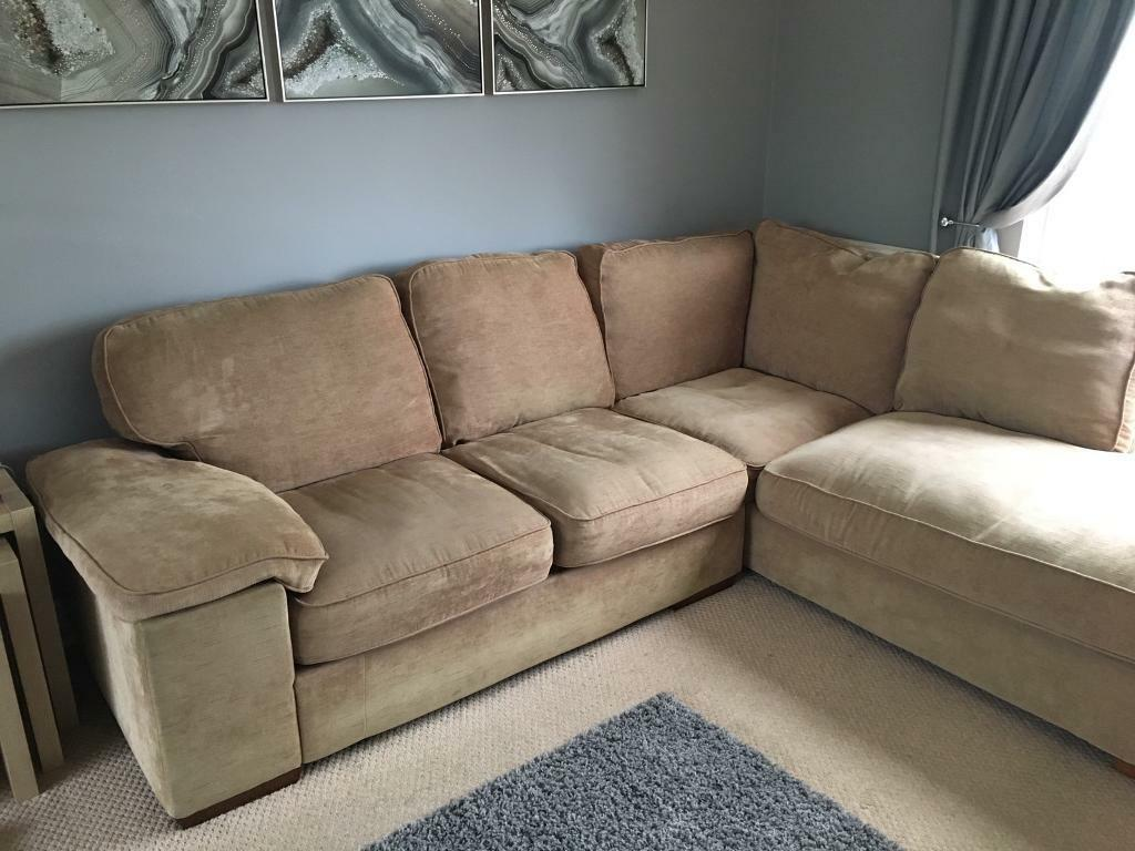 Harveys Cie Fabric Corner Sofa With Matching Large 2 Seater And Footstall