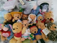 90 Disney soft toys all with labels