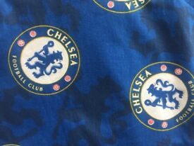 Lined CHELSEA FC curtains in great condition