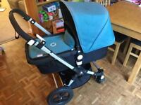 BUGABOO CAMELEON PUSHCHAIR, FOOTMUFF AND ORGANISER