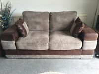 2 Seater Sofa/Sofabed (Leather & Chord)