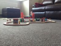 Child's wood train set