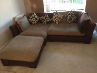 Large Fabric Corner Sofa