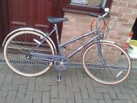 LADYS BIKE IN V.G.C AND ORIGNAL TYRES HARDLY BEEN USED COST NEW OVER £179