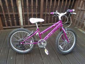 Raleigh Krush girls bike with 6 gears