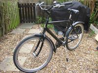 Stolen bicycle: Raleigh black frame, blue fork