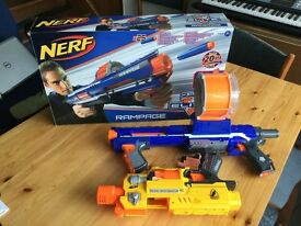 2 no nerf guns one has foam bullets