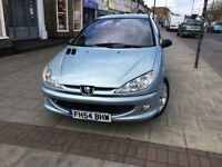 PEUGEOT 206,PETROL MANUAL LEATHER NEW TYRES 2004-REG, CHEAP ONLY £550