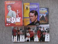 4 Cult TV Region 1 USA DVD boxed sets - The Saint, The Prisoner, Batman & Robin and Due South
