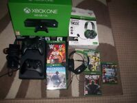 xbox one console,controllers,headset and 5 games