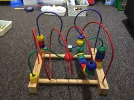 Ikea wooden wire beads maze
